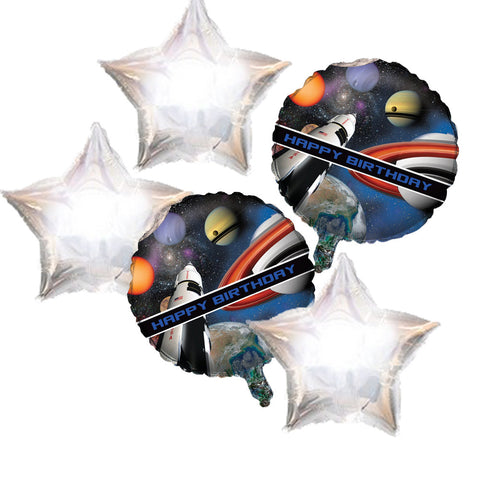 Space Shuttle Star Foil Balloons