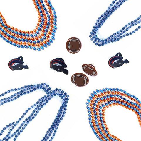 Denver broncos necklaces & rings