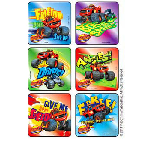 blaze monster machines foil stickers