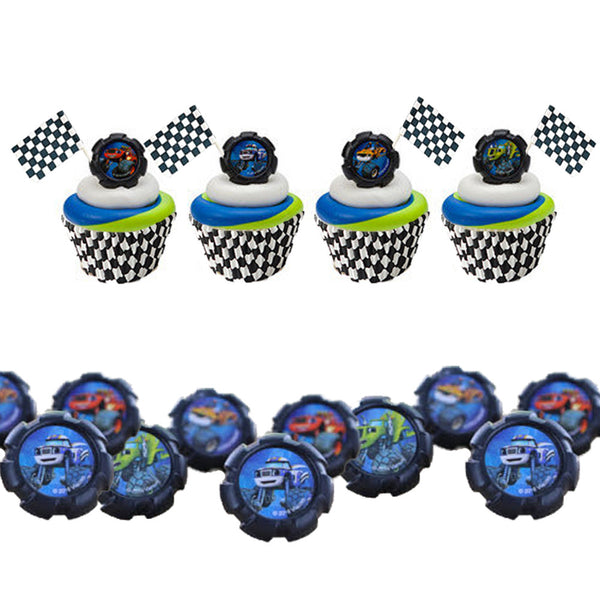 blaze & the monster machines cupcake set