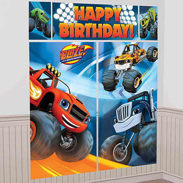 Blaze and the Monster Machines Party Wall Scene Setter