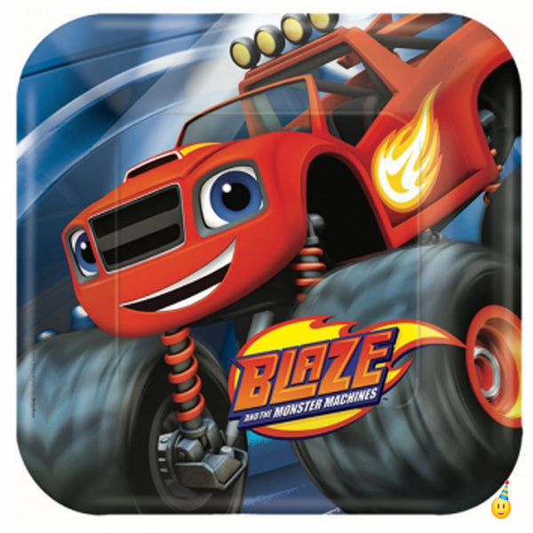 Blaze Monster Machines Party Plates