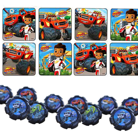 24 Blaze & the Monster Machines Stickers & 24 Cupcake Rings