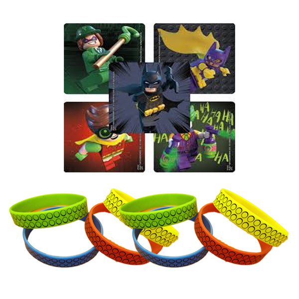lego batman movie stickers & wristband favors