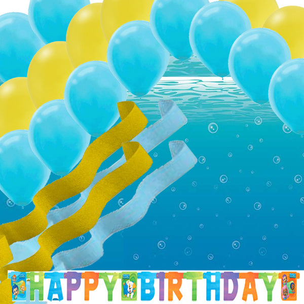 Bubble Guppies Underwater Ocean Wall Scene Balloons Streamers