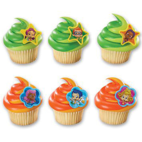 Cupcake Favor Rings - Bubble Guppies (24)