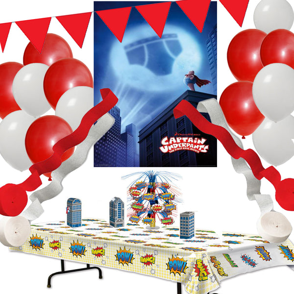 Captain Underpants Party Decoration Set