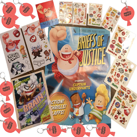 Captain Underpants Activity Set: Poster, Whoopee, Stickers, Decals, Tattoos