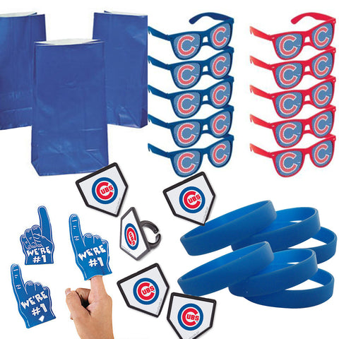 Chicago Cubs Party Favor Set - 12 Guests
