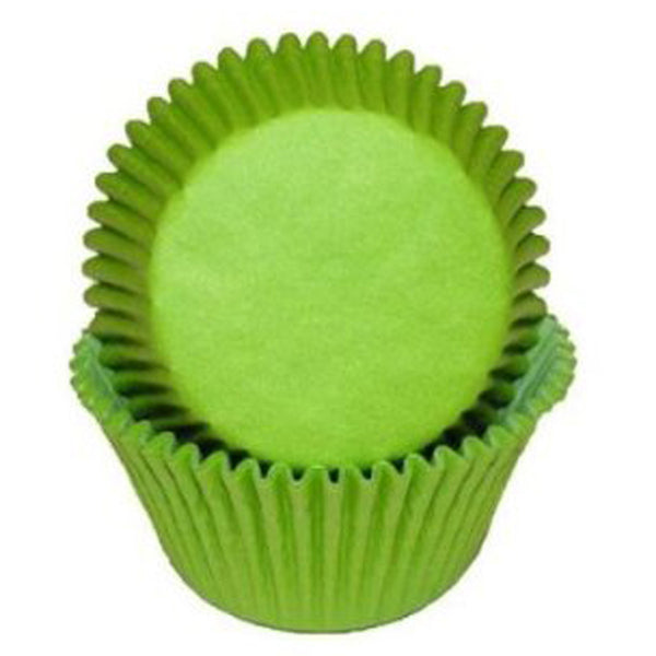 Lime Green Baking Cups