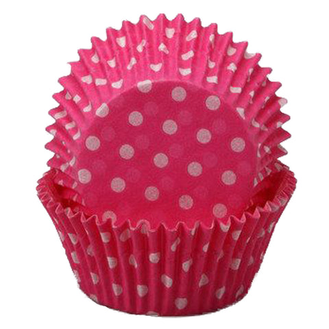 Pink polka dot baking cups