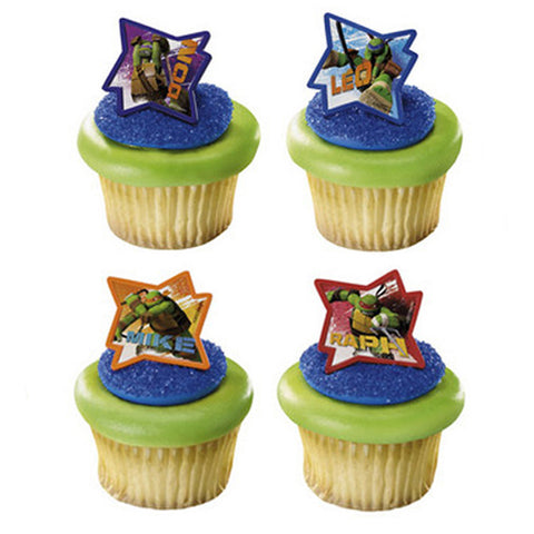 Ninja Turtles Cupcake Rings