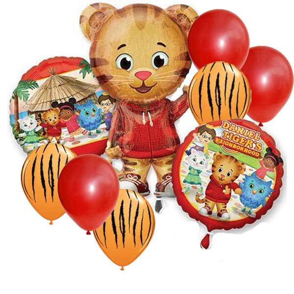 Daniel Tiger Jumbo Shape / 2 Mylar / 6 Latex - 9pc Balloons Set