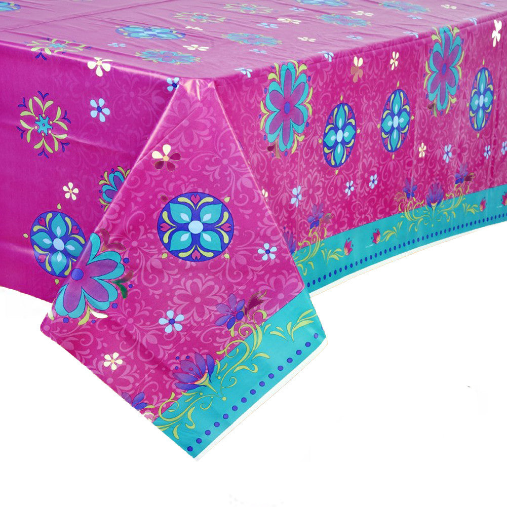 Disney Frozen Purple Plastic Rectangle Table Cover Party Majors