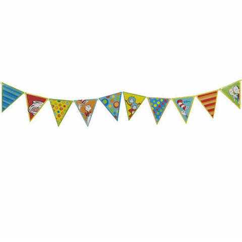 Dr Seuss Pennant Birthday Banner