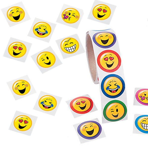 Emoji Happy Face Tattoos & Stickers - Party Favors