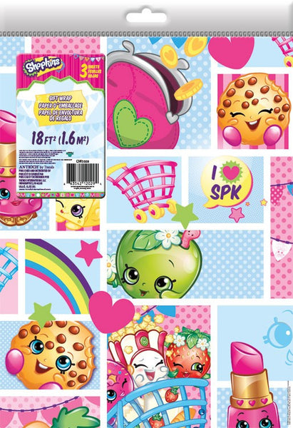 Shopkins party wrapping paper wrap