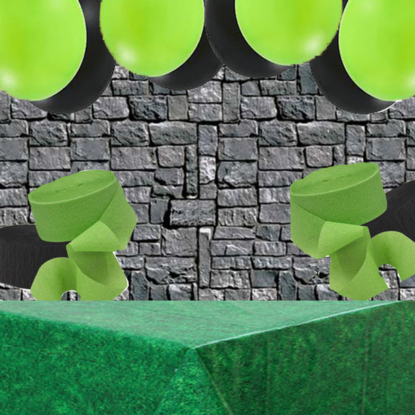 Minecraft Terraria Pixel Party Wall Banner Balloons Tablecover