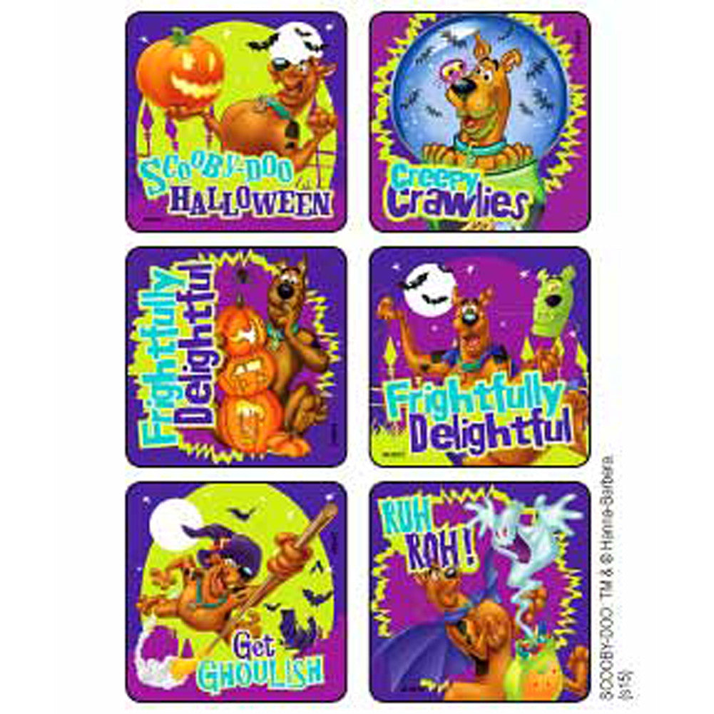 sticker pack - halloween scooby doo - 90 ct – party majors