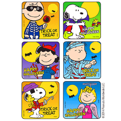 Snoopy Peanuts Halloween Stickers