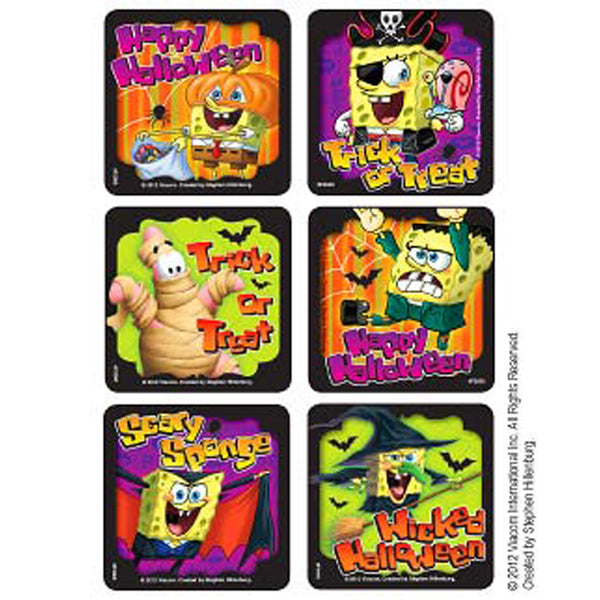 halloween spongebob stickers