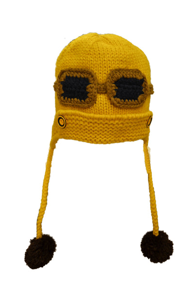Cozy Knit Toddler Aviator Hat