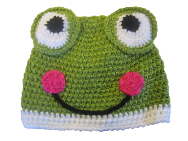 frog knit childrens beanie