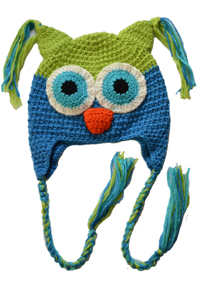 Cozy Knit Toddler Owl Hat