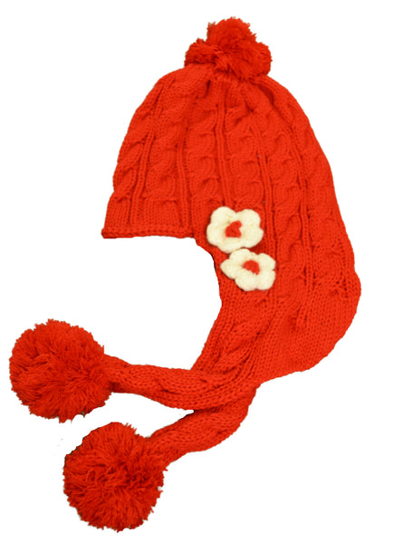 Cozy Knit Toddler Sweet Red Hat