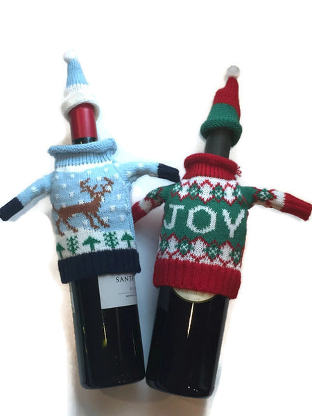 2 Ugly Sweater Wine Bottle Covers