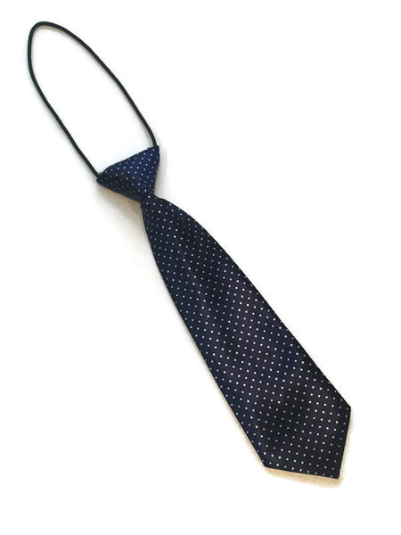 boys elastic dress tie baby majors navy