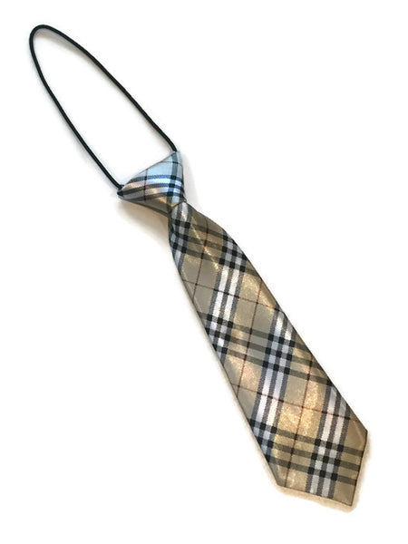 boys burberry neck tie elastic