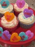 24 Valentine Heart Text Cupcake Rings - LOL SWEET TEXT ME