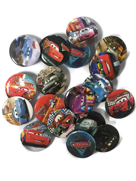 cars lightning mcqueen party favor buttons
