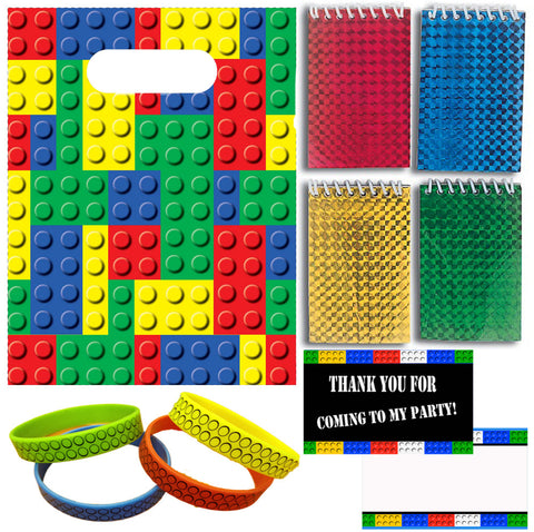 Bricks Party Favor Set - 12 Guests