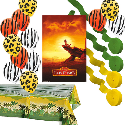 Lion Guard Decorations: Poster Balloons Streamers Table Cover