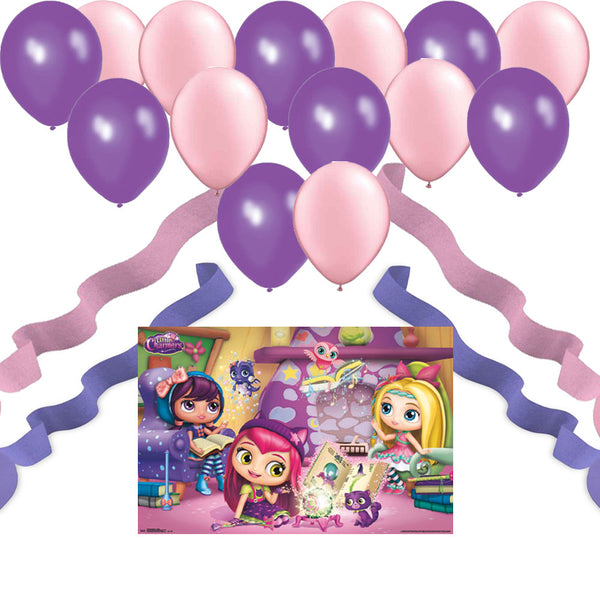 Party Wall Poster - 24 Balloons - 4 Streamers : Little Charmers