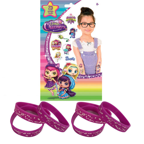 75 ct Little Charmers Tattoos & 12 Star Party Favor Wristbands