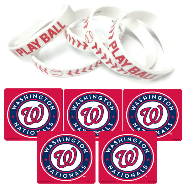 washington nationals party favors stickers wristbands