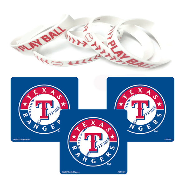 texas rangers party favors stickers wristbands