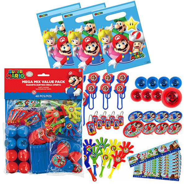 Super mario 56 favor bag set