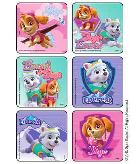 Paw Patrol Girl Pups stickers