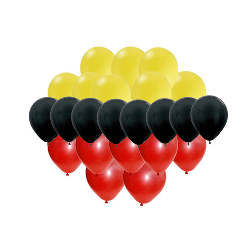 30 pc Mickey Mouse Color Latex Balloon Set - Yellow Black Red