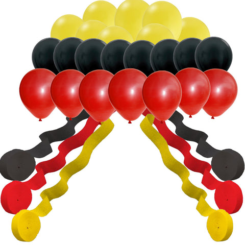 Mickey Mouse color streamers and balloons