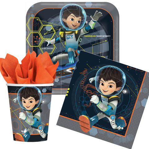 Miles from tomorrowland plates cups napkins