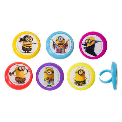 minion despicable cupcake rings