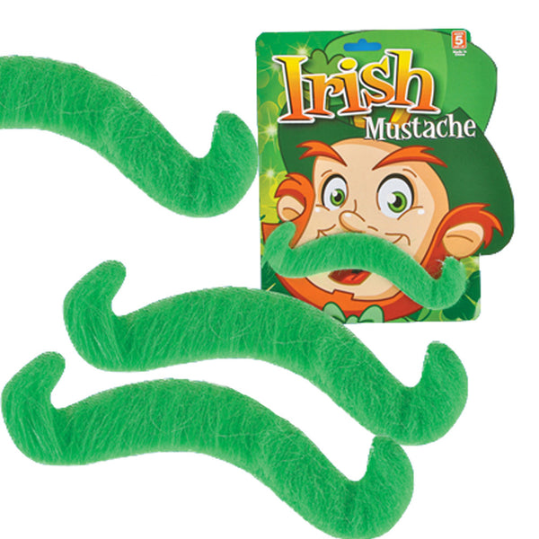 12 St Patricks Day Green Costume Mustaches