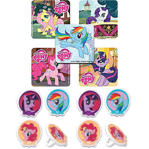 my little pony rings and Stickers