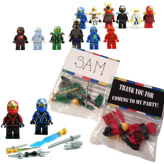Ninjago party favors