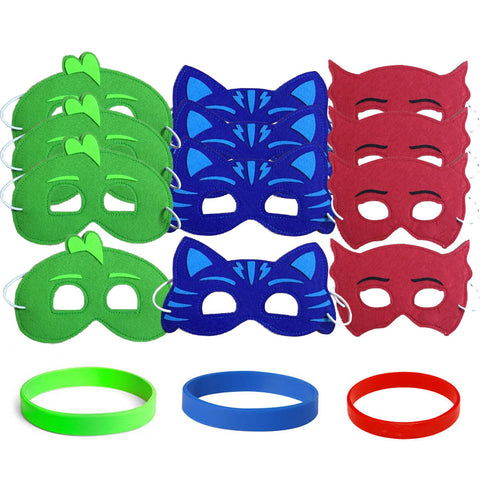 PJ Masks party favors Masks & Wristbands